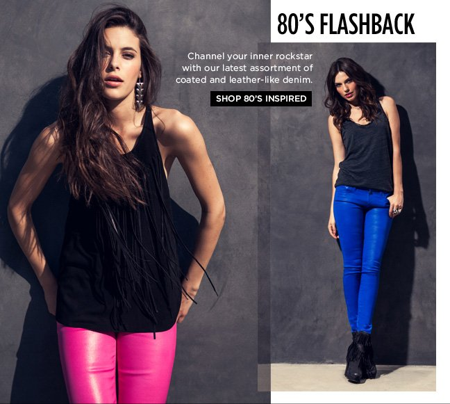 80's Flashback: Shop Coated Color & Leather-Like Now!