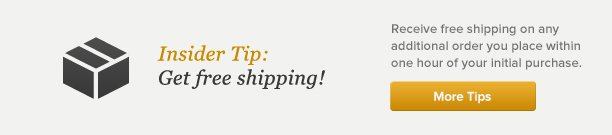 Get free shipping - More Tips