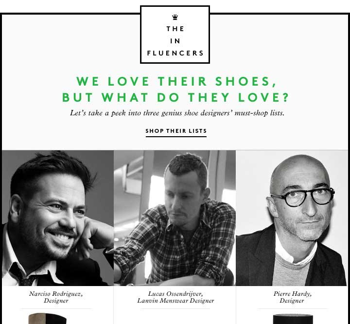 THE INFLUENCERS: WE LOVE THEIR 
