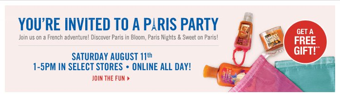 You're invited to the Paris Party