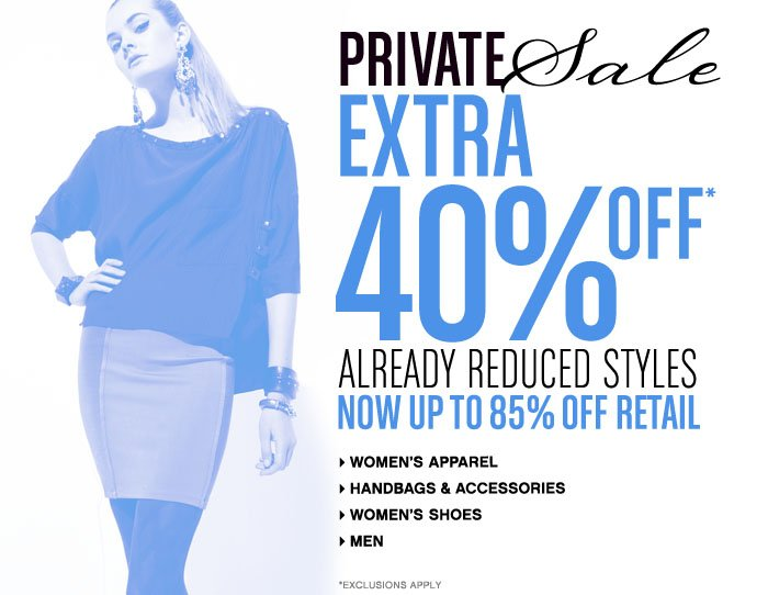 Private Sale: Get Up to 85% off Already-Reduced Items!