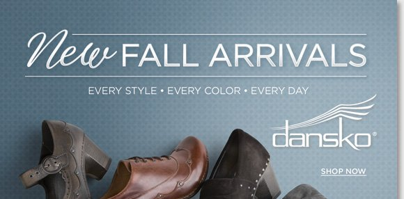 Shop the fashionable new Dansko fall arrivals including the Nell, Nori, Nevin, and more! From stylish heels, to beautifully tailored designs, shop now for the ultimate fall styles. As your #1 Dansko source, we have every style and every color, every day! Find the best selection now online and in-stores at The Walking Company.