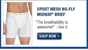 Sport Mesh No-fly Midway Brief