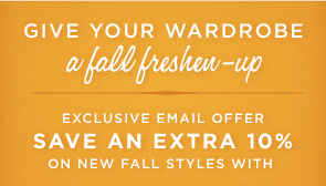 GIVE YOUR WARDROBE A FALL FRESHEN-UP