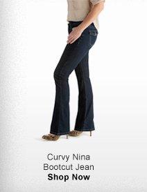 CURVY NINA BOOTCUT JEAN >