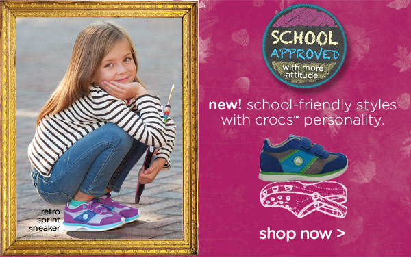new! school-friendly styles with crocs personality. - shop now