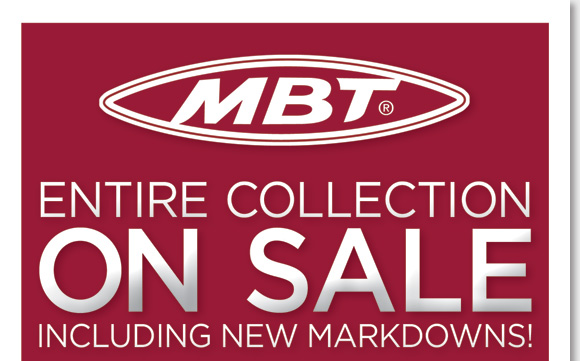 Save up to 60% on your favorite MBT styles, the entire collection for women and men is now on sale! MBT offers active, stylish footwear inspired by nature, and is created using superior materials and craftsmanship. Find new markdowns on your favorite styles and enjoy FREE Shipping*! Shop now online and in-stores at The Walking Company.