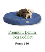 Premium Denim Dog Bed Set, from $69