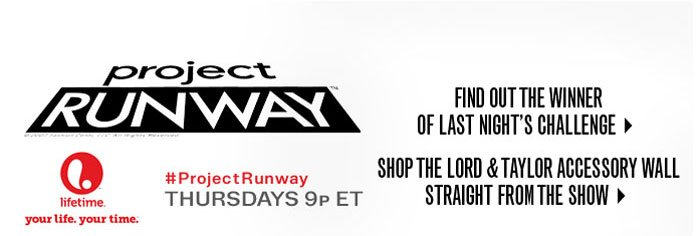 Project Runway Thursdays 9p ET