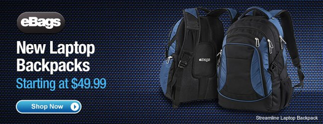 eBags New Laptop Backpacks Starting at $49.99