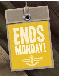 ENDS MONDAY!
