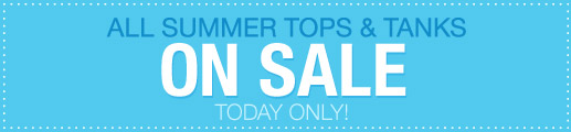 All Summer Tops and Tanks On Sale