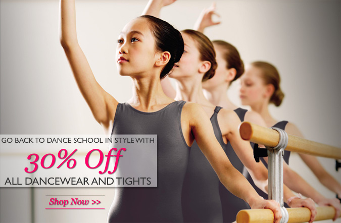 Go back to the studio in style with 30% off all Dancewear and Tights