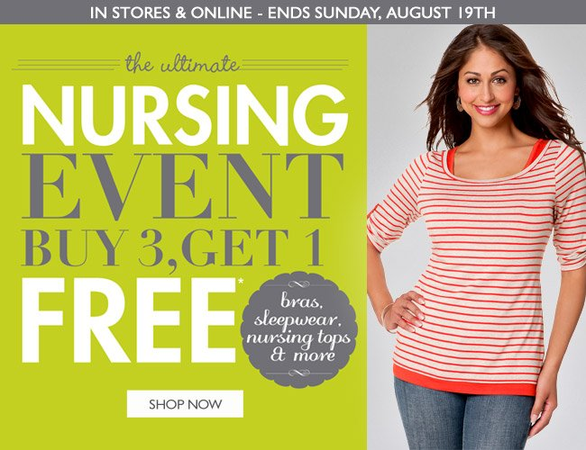 Nursing Event - Shop Now