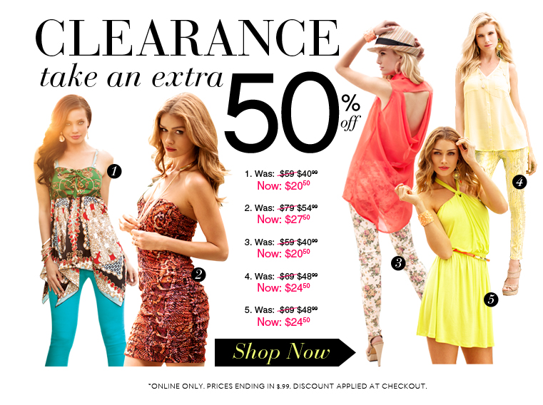 Take and Additional 50% OFF Clearance!