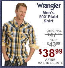 Wrangler Men's 20X Plaid Shirt