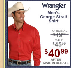 Men's Wrangler George Strait Shirt