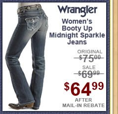 Sheplers Exclusive Wrangler Jeans - Premium Patch Booty Up Midnight Sparkle