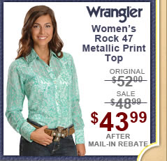 Wrangler Rock 47 Metallic Screen Print Western Shirt
