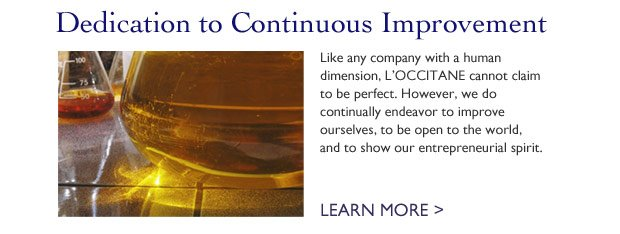 Dedication to Continuous Improvement