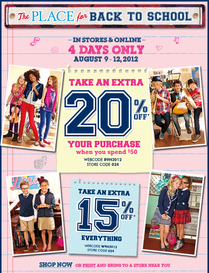 20% Off Everything When You Spend $50!