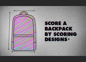 Score a backpack by scoring designs