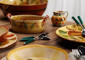 Imported from Italy: Tableware