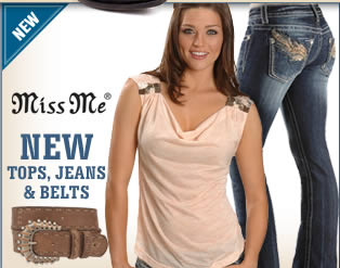 Miss Me Tops, Jeans, and Belts