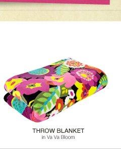 Throw Blanket in Va Va Bloom