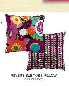 Reversible Toss Pillow in Va Va Bloom