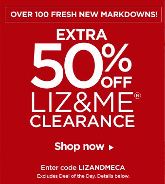 50% off Liz and Me Clearance