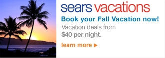 sears vacations | Book your Fall Vacation now! | Vacation deals from $40 per night. | LEARN MORE >