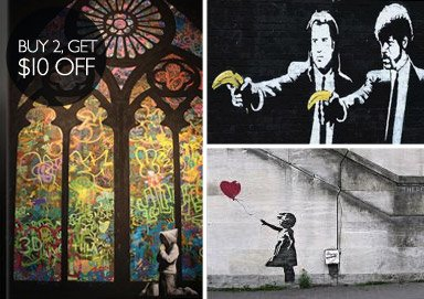 Shop Banksy: New 3-Piece Prints