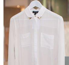 Longsleeve Collar Tip Shirt
