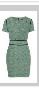 Boucle Pencil Shift Dress