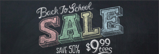 Back To School Sale $9.99 Tees
