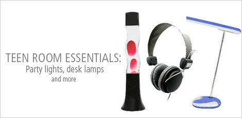 Teen Room Essentials: Party Lights, Desk lamps and electronics