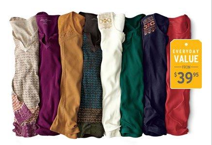 Regional Embroidered Split-Neck Shir