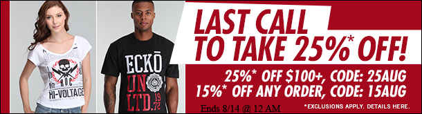 Last Call! Take 25% Off Ends Tomorrow!