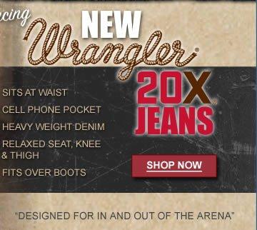 New Wrangler 20X Jeans