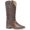 "Boulet Women's 13"" Wide Square Saddle Vamp Tooled Boots"