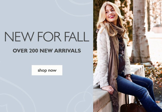 New for Fall