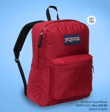 Get the JanSport SuperBreak