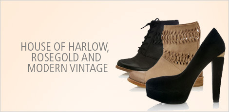 House of Harlow, Rosegold and Modern Vintage Footwear