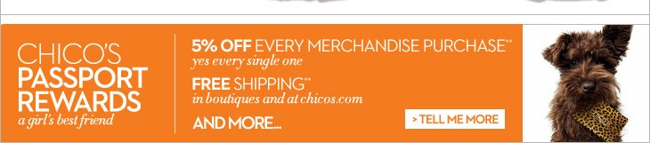 Chico's Passport Rewards are a Girl's Best Friend  