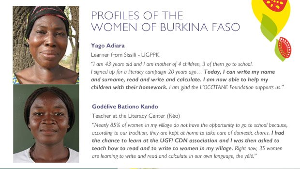 Profiles of the women of Burkina Faso. 