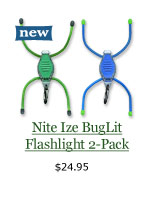 NEW Nite Ize BugLit Flashlight 2-Pack, $24.95