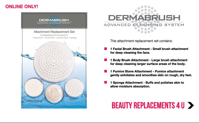 Dermabrush Attachment Replacement Set