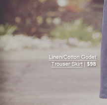 Linen/Cotton Godet Trouser Skirt | $98
