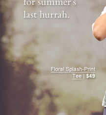 Floral Splash-Print Tee | $49